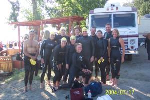 wetsuits pre-race