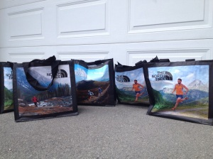 2 adults + 3 kids = thanks for the new grocery bags!
