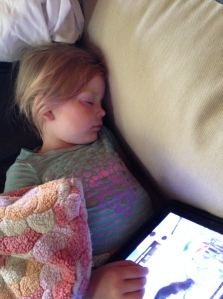 Thankfully, so was this one.  She slept through her 8736 viewing of Frozen.