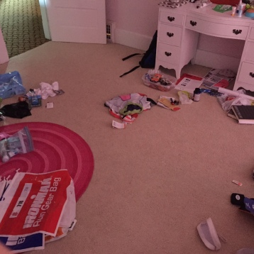 Triathlon things exploded in my room.