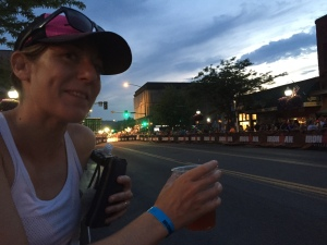 Post-race beer on the street? OK!