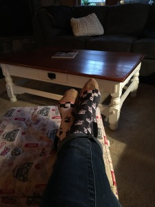 Feet up, Monday, 4:33pm.